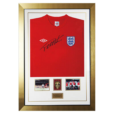 Signed Sir Geoff Hurst England Umbro Shirt - World Cup Final Display 1966 Medal