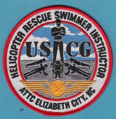 Coast Guard Uscg Helicopter Rescue Swimmer Instructor North Carolina Patch