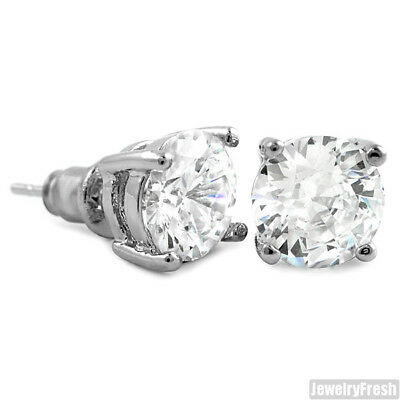 eac459ba7 SILVER CUBIC ZIRCONIA Fancy Octagon Mens Earrings - $21.95 | PicClick