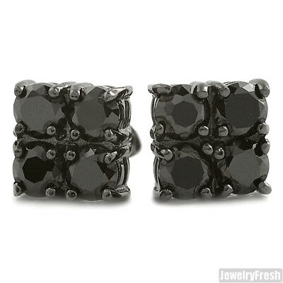 627bd57bb 2.00 CTW FOUR Stone Black CZ Stud Earrings for Men - $14.95 | PicClick