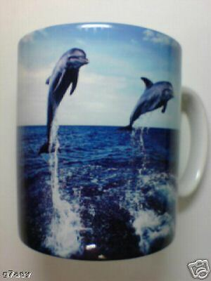 2 Dolphins / Dolphin Jumping  Coffee Mug
