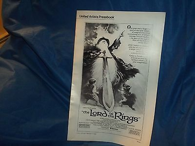 """1978 Original United Artist """"Lord of the Rings"""" Movie Press Book"""