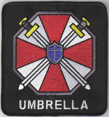 Resident Evil Umbrella Corporation Logo Large Jacket Patch, NEW UNUSED