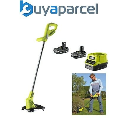 Ryobi One+ Cordless Line Trimmer Strimmer Edger with 18v Lithium Ion 2 x 1.3ah