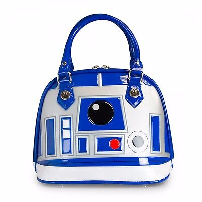 Star Wars R2-D2 Blue/White/Silver Patent Dome Bag