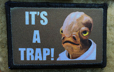 It's a Trap! Star Wars Morale Patch Funny Tactical Military USA Hook  Army Flag