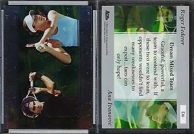 2008 Ace Authentic Match Point Dual #D6 ROGER FEDERER/ANA IVANOVIC