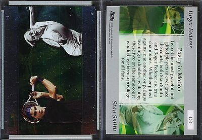 2008 Ace Authentic Match Point Dual #D3 ROGER FEDERER/STAN SMITH