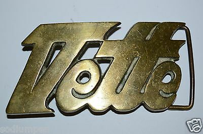 WOW Original Old Vintage VETTE Chevrolet Corvette Solid Brass Belt Buckle RARE