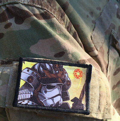 Star Wars Stormtrooper Samurai Morale Patch Military Tactical Army Flag USA Hook