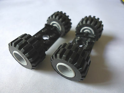 Lego 2 x Doppel Achse schwarz - 6157 NEU // NEW 2 x 2 Wheels Holder Black