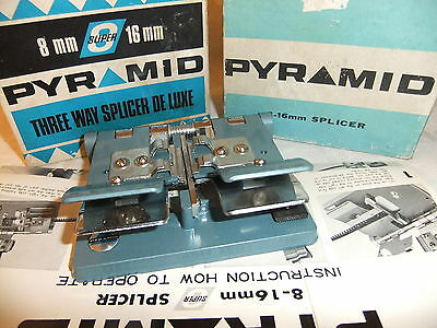 Cine film splicer PYRAMID 8mm & 16mm + instructions BOXED  .. 30