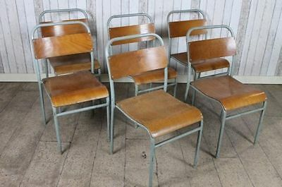Vintage Industrial Retro Stacking School Chairs Large Quantity Available