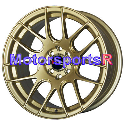 16x8 XXR 530 Gold Concave Rims Wheels Stance 4x100 92 98 Honda Civic Hatch SI EX