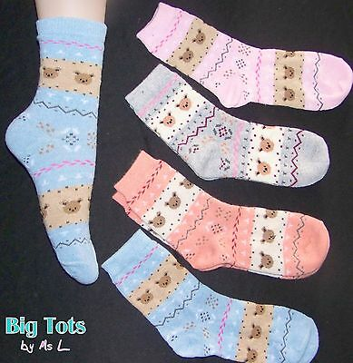 Adult Baby Teddy's  Socks *Big Tots by MsL*