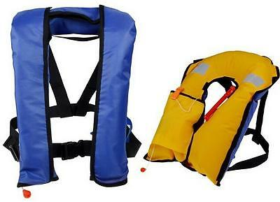Automatic/Manuel  Inflate Inflatable Survival Buoyancy PDF Life Jacket Vest G