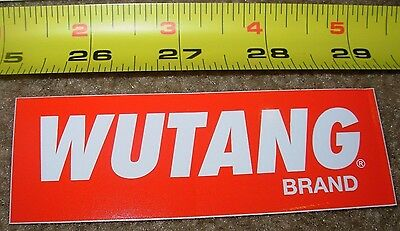 WU-TANG CLAN Sticker RED WHITE killa bees decal New wutang brand 36 chambers