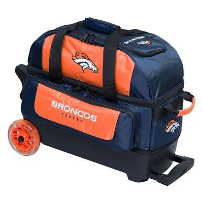 KR Strikeforce NFL Denver Broncos 2 Ball Roller Bowling Bag