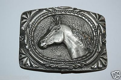 WOW Minty Vintage 1993 Pewter 3D Horse Belt Buckle Cowgirl Cowboy Western Rodeo