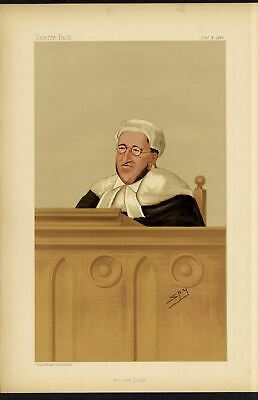 Judge Ecclesiasatical Lawyer Chancellor Justice Arthur Charles Bench Vanity Fair