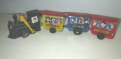 Vintage Tin Toy Wind Up Train Western Comic Zig-Zag  Made In Korea Works