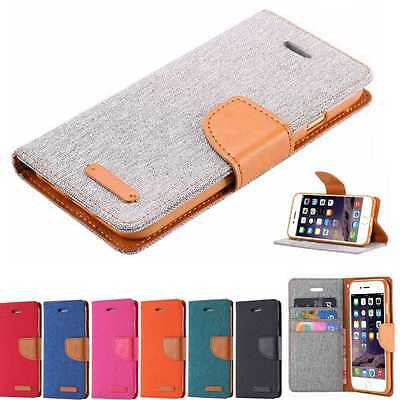 Magnetic Wallet Leather Card Slot Stand Case Cover For iPhone 6 6s Plus 5 5s SE