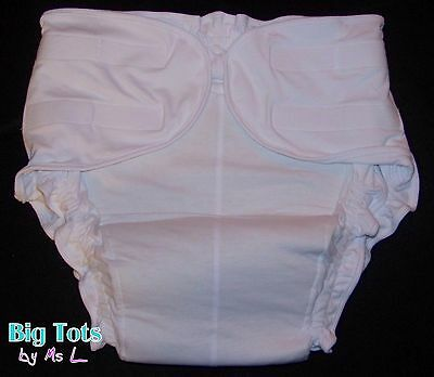 Adult Baby *NEW* Cotton fitted cloth diaper *Big Tots by MsL**