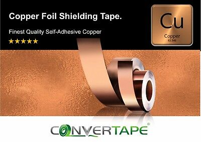 TAPE Repellent Guitar Pickup Adhesive Conductive EMI Copper Slug rolls & Sheets