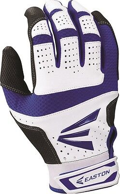 1 Pair Easton HS9 Hyperskin Adult Large White / Royal Batting Gloves A121592