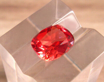 SUPERBE SAPHIR VERNEUIL PADPARADSCHA 10x8 mm.IF taille coussin