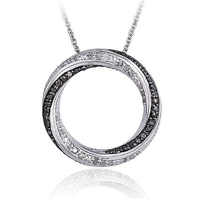 0.50ct TDW Black & White Diamond Eternity Necklace