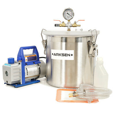 5 Gallon Vacuum Chamber and 3 CFM Single Stage Pump to Degassing Silicone