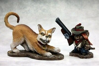 Reaper Miniatures MOUSLING COWGIRL AND TRUSTY HOUND Chronoscope 50285