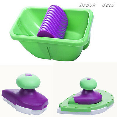 Household Paint Roller Tray Sponges Set Painting Brush Point Paint Pad Tool New