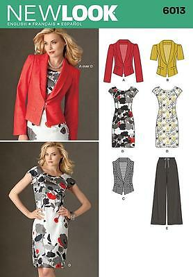 NEW LOOK SEWING PATTERN Misses' DRESS TROUSERS JACKET VEST  SIZE 4 - 16 6013