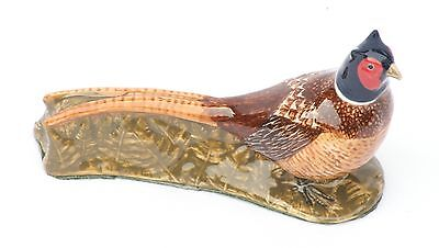 Pheasant Ceramic Model by Quail Pottery Ornament  Paperweight NEW Shooting Gift