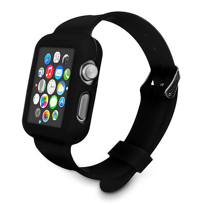 kwmobile SILICONE WATCH STRAP WITH CASE FOR APPLE WATCH 42MM (SERIES 1 SERIES 2)