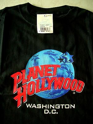 Planet Hollywood Washington Black Tee Size L New NWT Neu