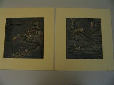 Japanese Silk Hand Stiched Embroidery Scenes cdii