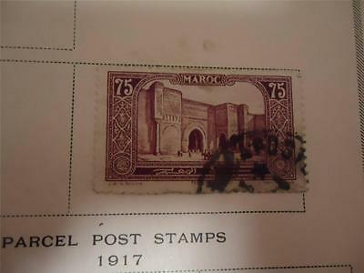 Vintage Official Morocco Postage Stamp 1923 On Page - Make an Offer
