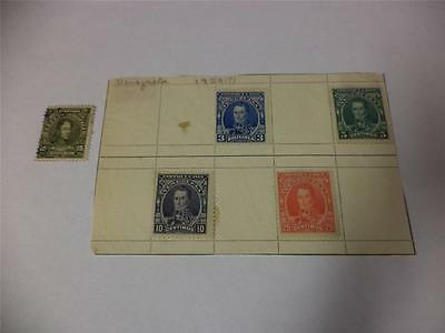 Collection of 5 Vintage Venezuela Early 1900s Postage Stamps - Make an Offer
