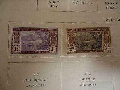 Lot of 2 Unused Vintage Ivory Coast Postage Stamps 1913 On Page - Make an Offer