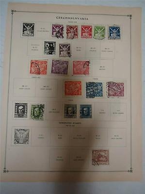 Lot of 15 Vintage Czechoslovakia Postage Stamps 1918-1925 - On Page - Make Offer
