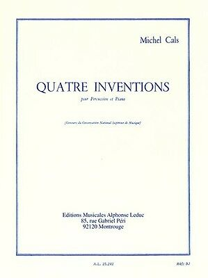 Quatre Inventions Pour Percussion Et Piano, Sheet Music, French - 9790046252419