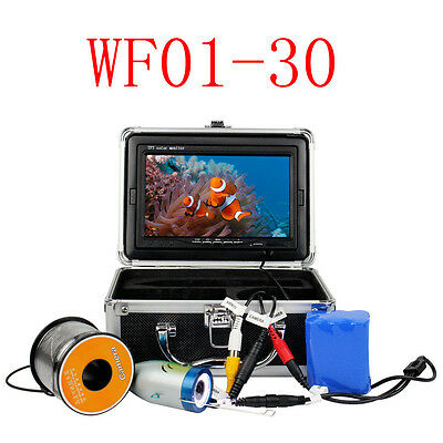 """7"""" LCD 1000TVL 30M Underwater Video Camera System Fish Finder  for Exploration"""