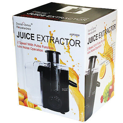 Whole Fruit Juicer Extractor Veg Juice 2 Speed Pulse Stainless Steel Pulp Filter