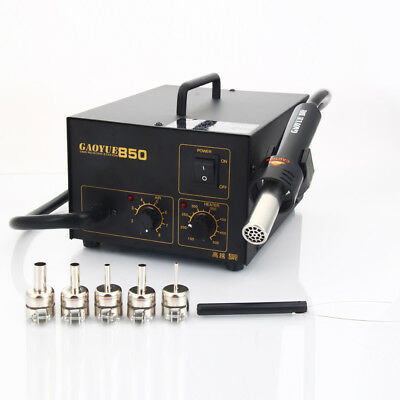 Gaoyue 850 SMD Hot Air Solder Desoldering Rework Station +IC Pulle+5 Nozzel 270W
