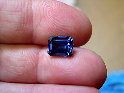 SUPERBE TANZANITE VERNEUIL taille EMERAUDE 8x6mm...IF