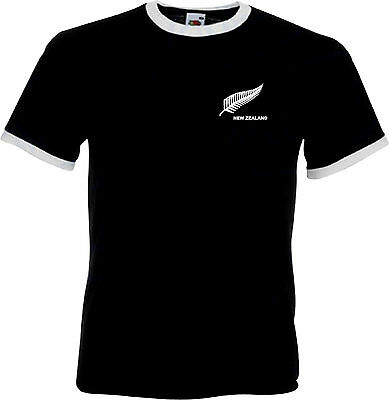New Zealand National Football / Soccer / Rugby Team Retro T-Shirt - All Sizes