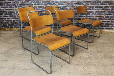 Original Vintage British Stacking Chairs Large Quantity Available